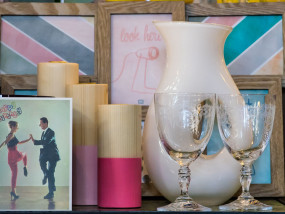 geschenken, glaswerk, glassware